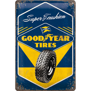 Blechschild Goodyear - Super Cushion