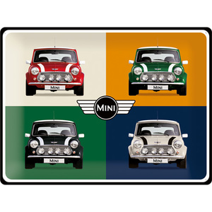 Blechschild Mini - 4 Cars Pop Art