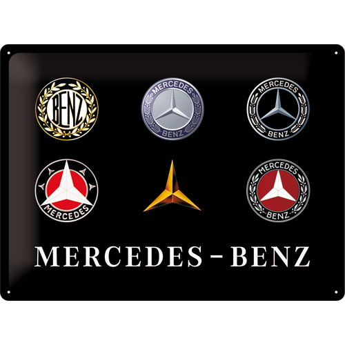 Blechschild Mercedes-Benz - Logo Evolution